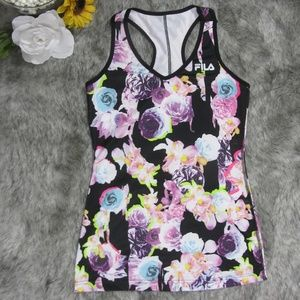 Fila Floral Print Active Wear Tank Top